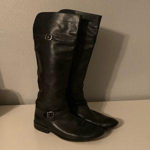 "Women's Black Frye ""Melissa"" Leather Boots"